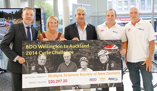 MS receive their cheque from event organisers