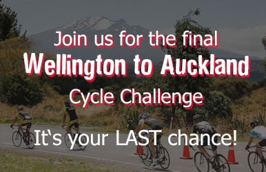 Join us for the final Wellington to Auckland Cycle Challenge