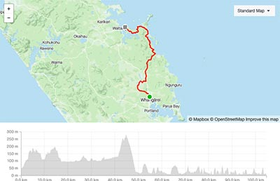 BDO Tour of Northland Day 1 course map