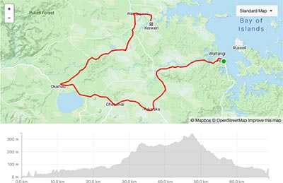 BDO Tour of Northland Day 2 course map