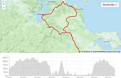 BDO Tour of Northland Day 3 course map