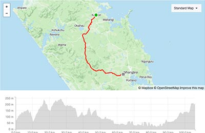 BDO Tour of Northland Day 4 course map